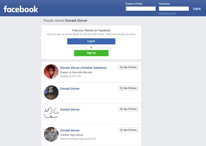 facebook name search