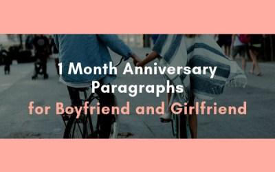 Párrafo de aniversario de 1 mes para el novio y la novia 1