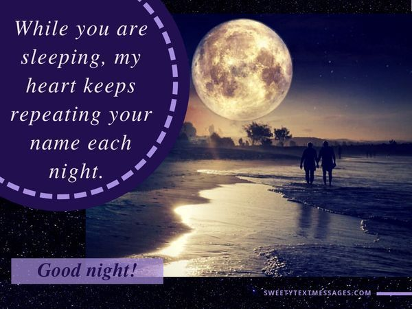 Сute Mensajes de texto de buenas noches y citas para ella 8