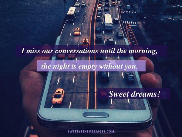 Сute Mensajes de texto de buenas noches y citas para ella 5