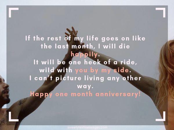 Párrafo de aniversario de 1 mes para el novio y la novia 2
