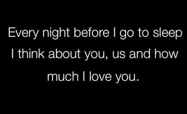 Сute Mensajes de texto de buenas noches y citas para ella 26