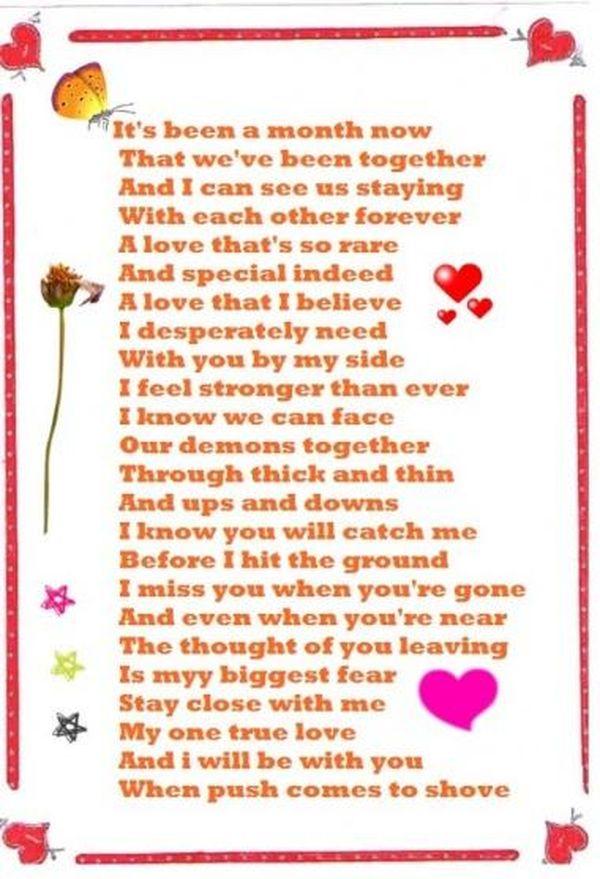 Párrafo de aniversario de 1 mes para el novio y la novia 12