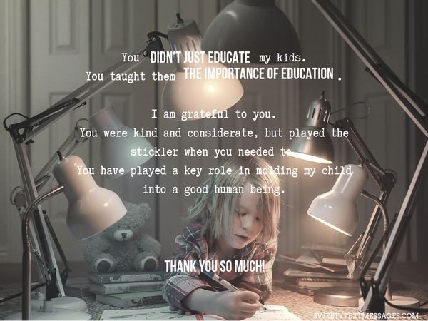 Nota de agradecimiento a la maestra de Grateful Parent 5