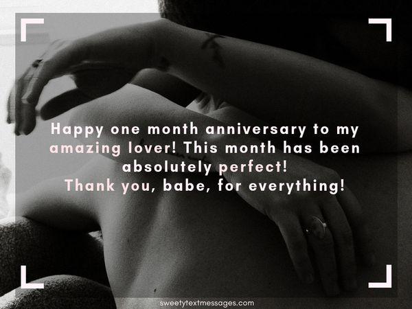 Párrafo de aniversario de 1 mes para el novio y la novia 6
