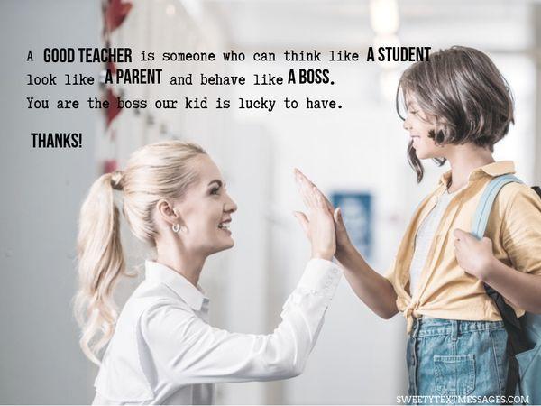 Nota de agradecimiento a la maestra de Grateful Parent 7