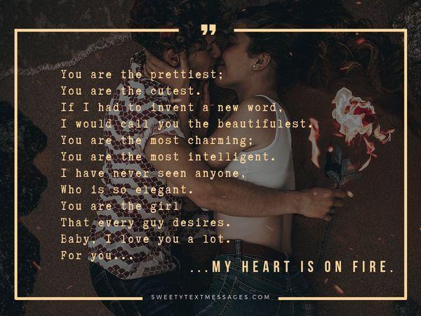 Poemas románticos sobre el amor para ella - Sorprende el texto de tu amor 9