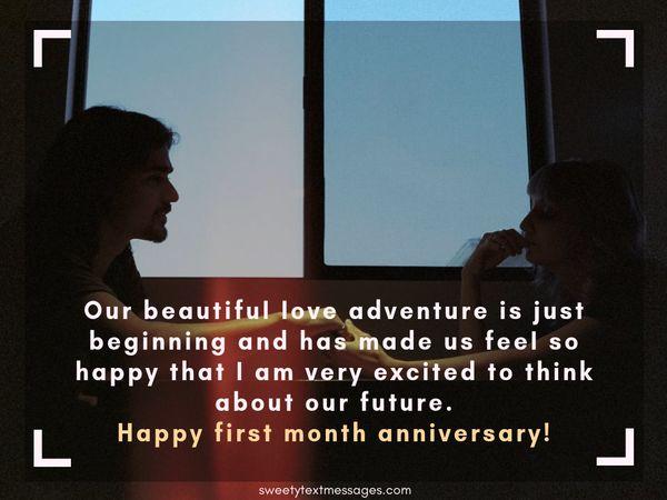 Párrafo de aniversario de 1 mes para el novio y la novia 7