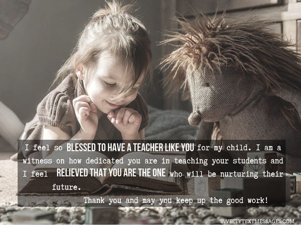 Nota de agradecimiento a la maestra de Grateful Parent 8