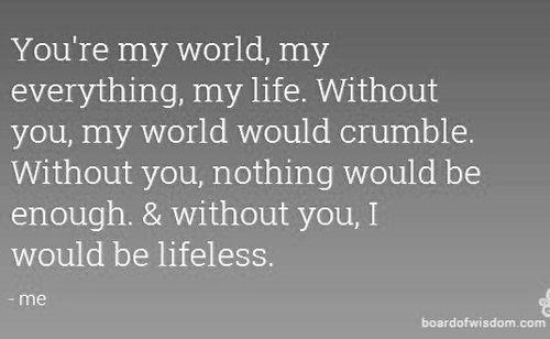 Eres mi mundo Citas, eres mi todo 18