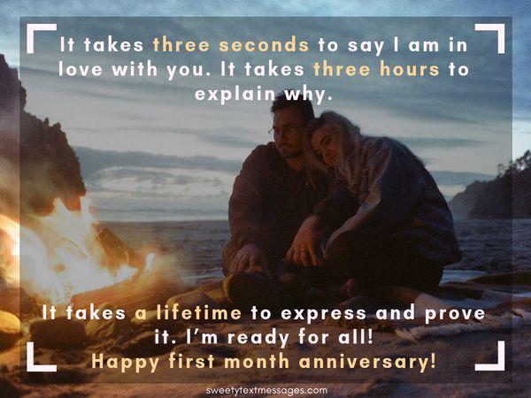 Párrafo de aniversario de 1 mes para el novio y la novia 8