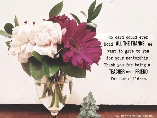 Nota de agradecimiento a la maestra de Grateful Parent 9