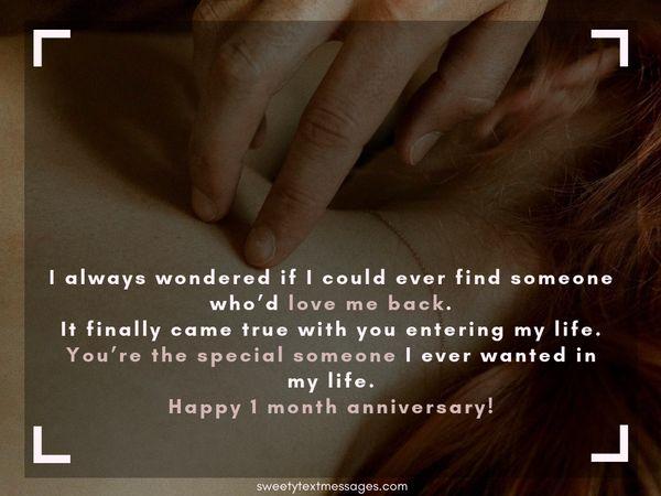Párrafo de aniversario de 1 mes para el novio y la novia 9