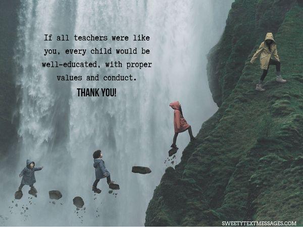 Nota de agradecimiento a la maestra de Grateful Parent 10