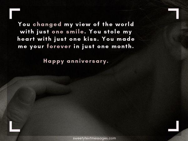 Párrafo de aniversario de 1 mes para el novio y la novia 10