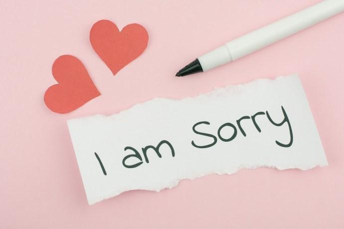"""Las mejores citas de """"Lo siento"""" para enviar el texto 3"""
