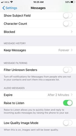 El iPhone no bloquea los textos - Qué hacer 3