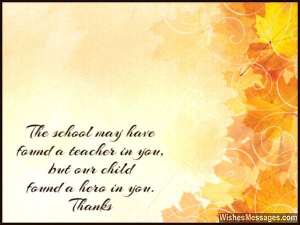 Nota de agradecimiento a la maestra de Grateful Parent 13