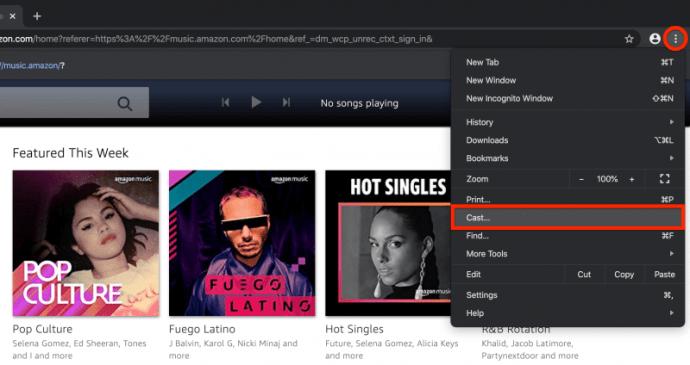 Cómo reproducir música de Amazon en la página de inicio de Google 3