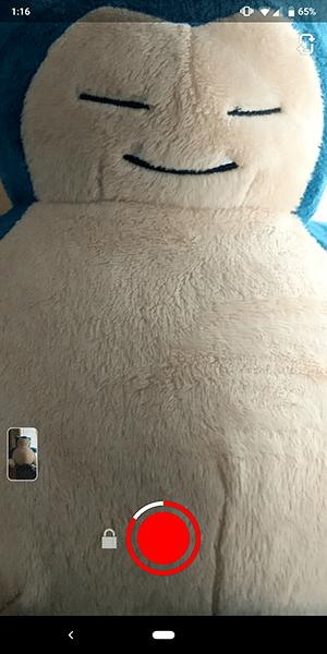 Cómo tomar videos/fotografías de Snapchat sin tocar la pantalla 1
