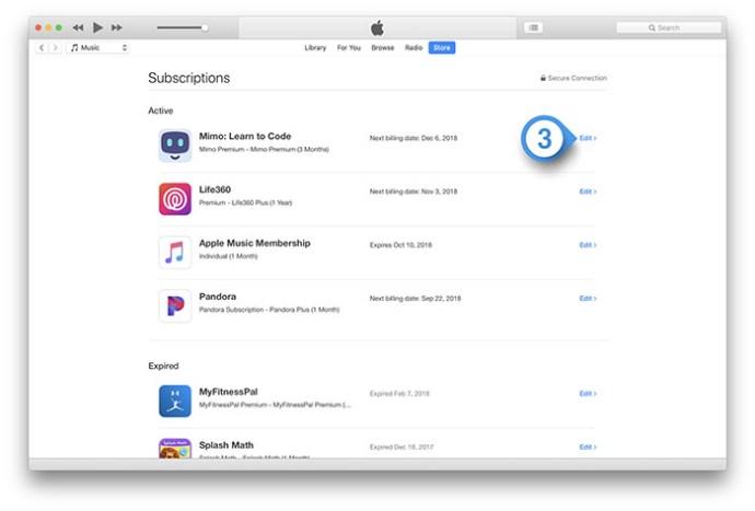 Cómo cancelar las suscripciones al App Store a través de iOS e iTunes 4
