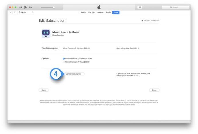 Cómo cancelar las suscripciones al App Store a través de iOS e iTunes 5