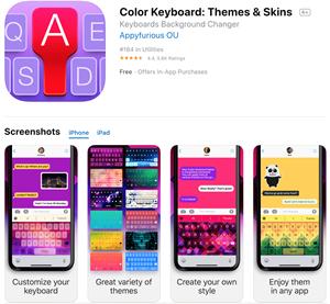 Cómo cambiar el color del teclado en el iPhone 5