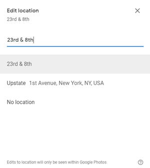 Cómo añadir la ubicación a Google Photos 6