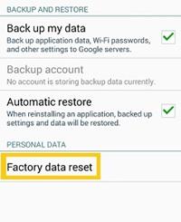 Cómo reiniciar de fábrica su tableta Android 2