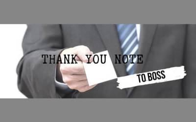 Las mejores notas de agradecimiento para su jefe 1