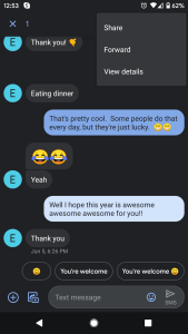 Cómo reenviar un mensaje de texto en Android 2