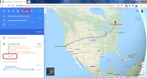 Cómo ver la elevación en un mapa de Google 2