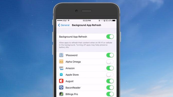 Ahorra la vida de la batería del iPhone desactivando la actualización de la aplicación en segundo plano 4