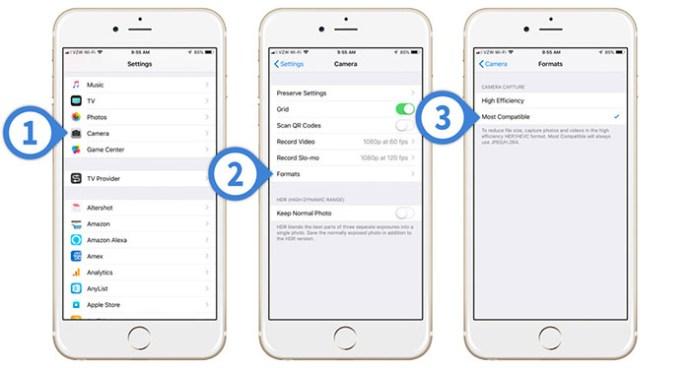 Cómo guardar imágenes como JPEG en lugar de HEIC en el iPhone 2