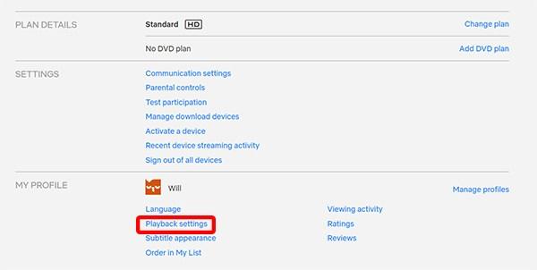 Cómo ajustar la calidad del video en Netflix 5
