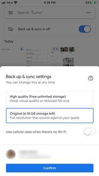 Cómo desactivar la copia de seguridad automática en Google Photos 2