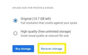 Cómo cambiar las fotos de Google de alta calidad a originales 10