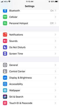 El iPhone no gira automáticamente - Qué hacer 5