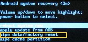 Cómo reiniciar de fábrica su tableta Android 3
